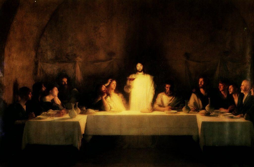 jesus comparte el vino imagen