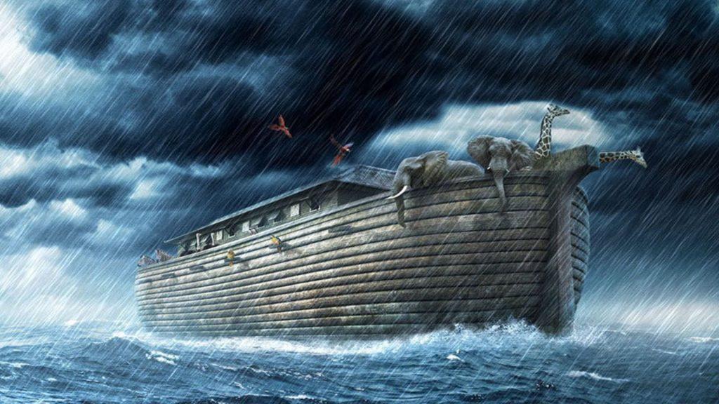 inundación arca de noe imagen