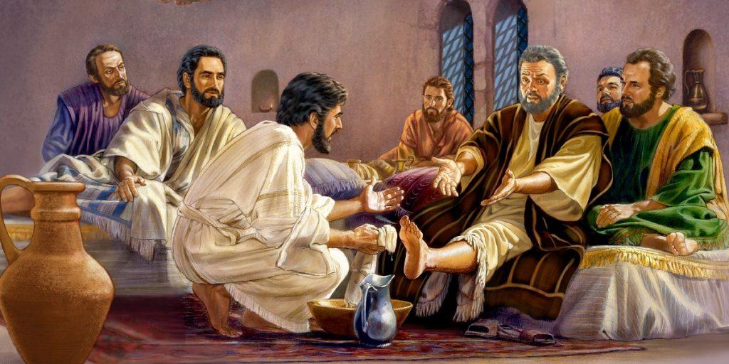 jesus lava los pies de los apostoles imagen