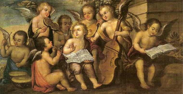 Jesus junto a angelitos imagen