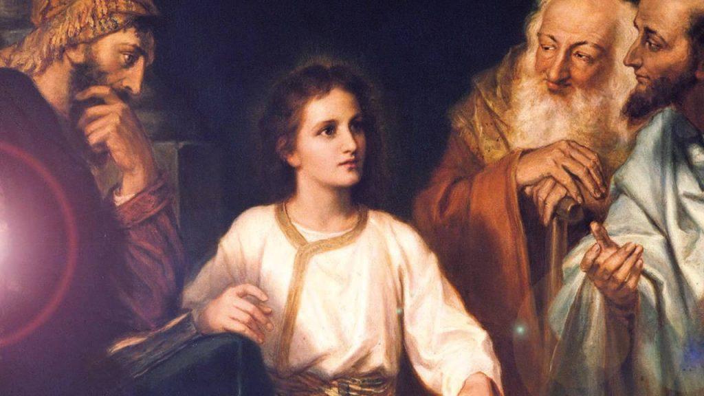 Jesus perdido y hallado en el templo imagen